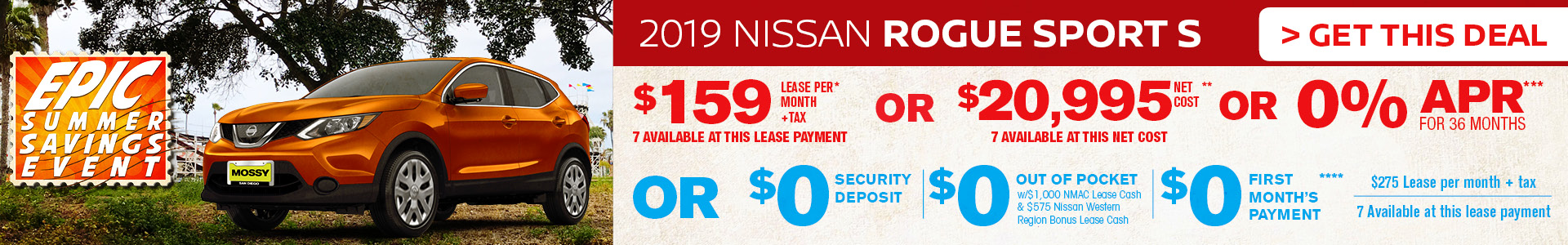 Mossy Nissan - Nissan Rogue Sport $159 Lease