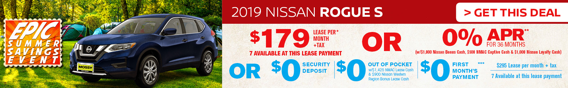 Mossy Nissan - Nissan Rogue $179 Lease