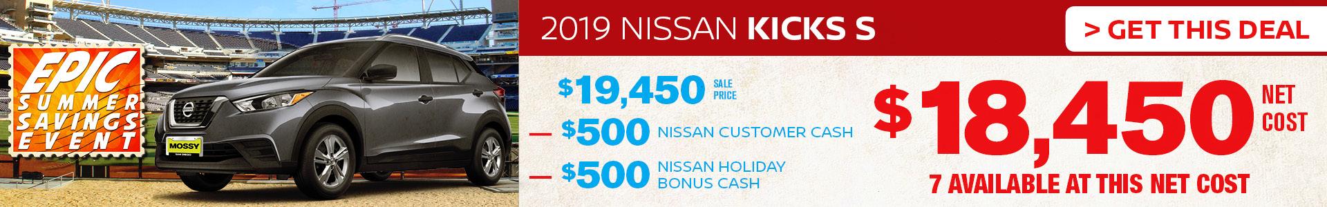 Mossy Nissan - Nissan Kicks $18,450