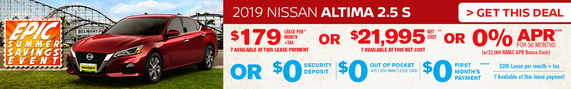 Mossy Nissan - Nissan Altima $179 Lease