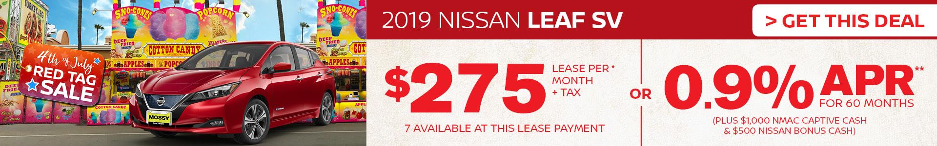 Mossy Nissan - Nissan LEAF $275 Lease