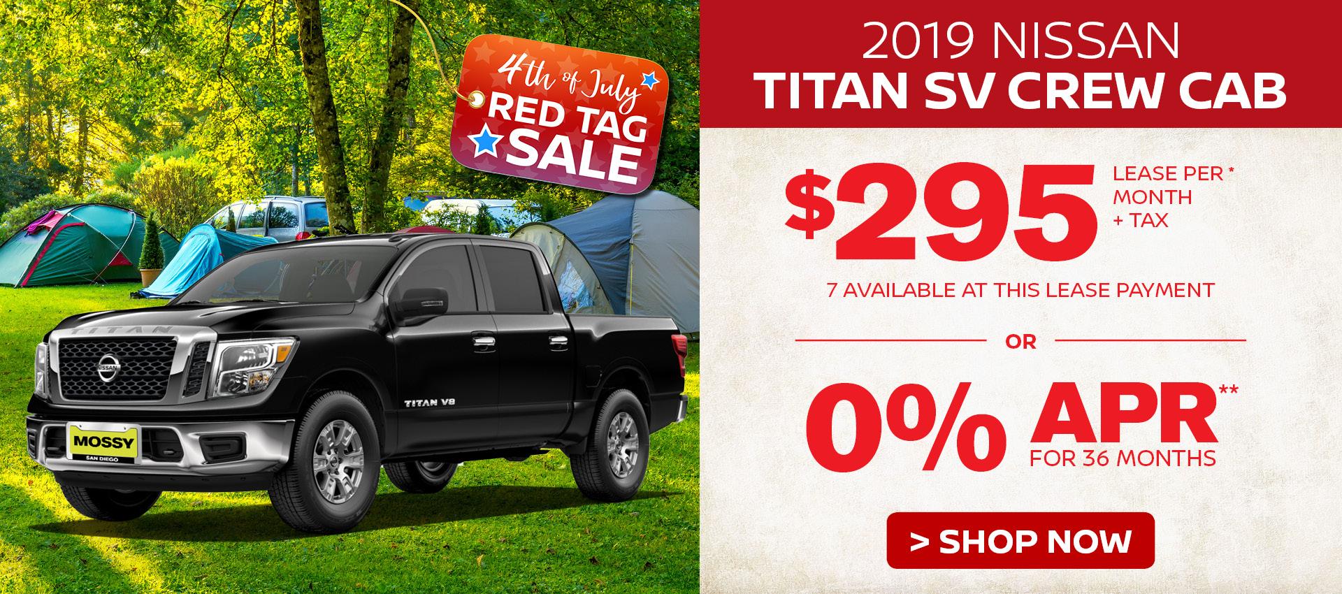 Mossy Nissan - Nissan Titan $295 Lease HP