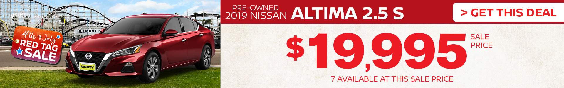 Mossy Nissan - PreOwned Altima Summer Savings
