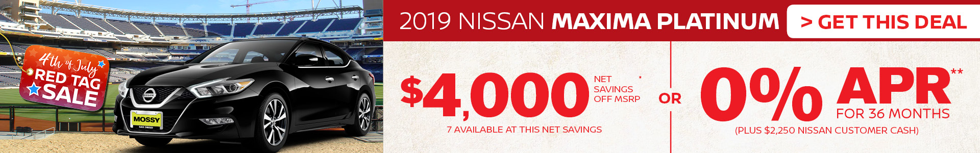 Mossy Nissan - Nissan Maxima 4K Off MSRP