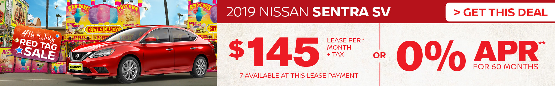 Mossy Nissan - Nissan Sentra $145 Lease