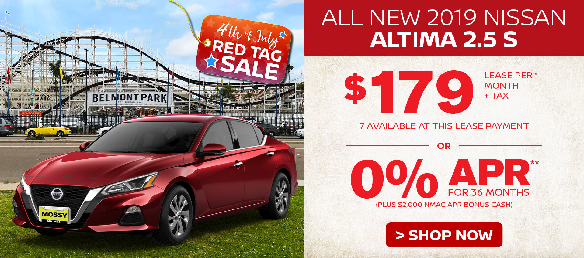 Mossy Nissan - Nissan Altima $179 Lease HP