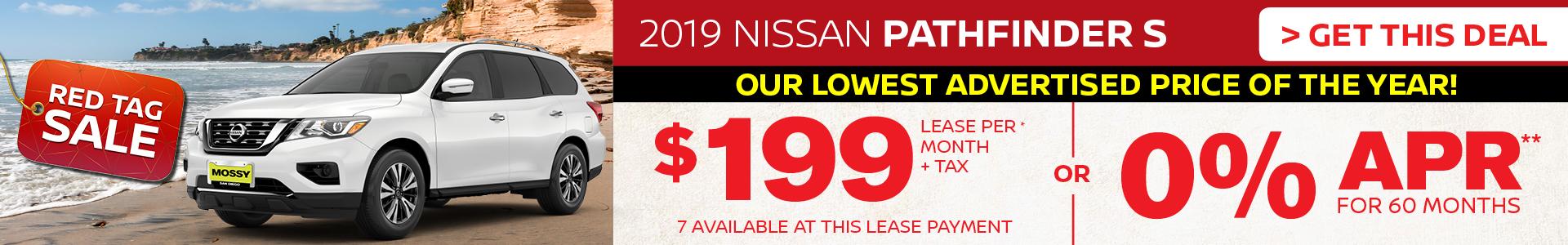 Mossy Nissan - Nissan Pathfinder $199 Lease