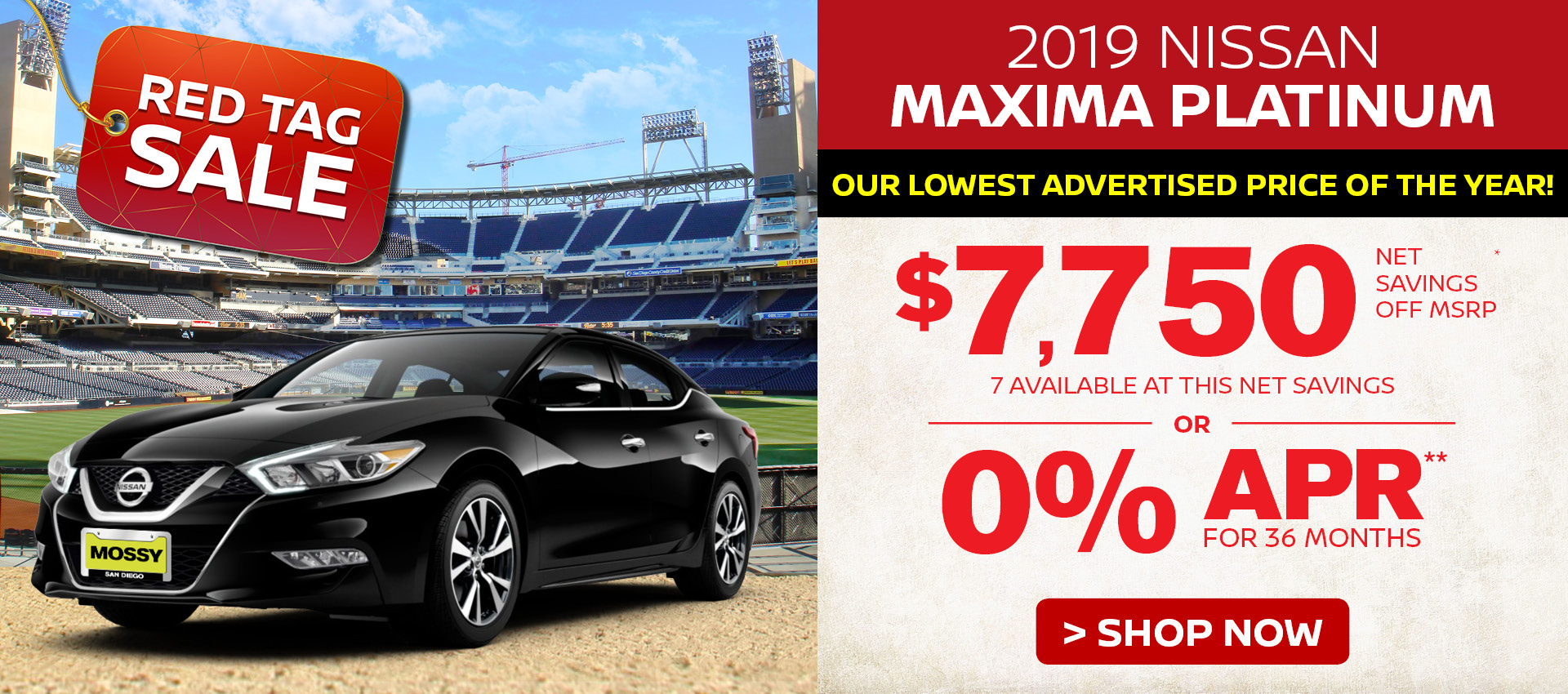 Mossy Nissan - Nissan Maxima $7,750 Off MSRP HP