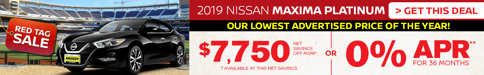 Mossy Nissan - Nissan Maxima $7,750 Off MSRP