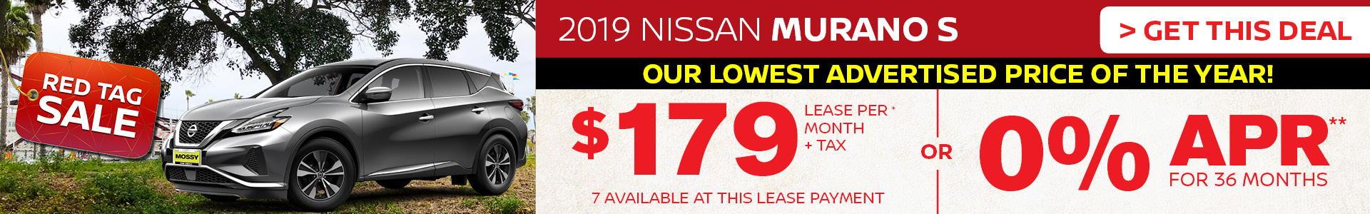 Mossy Nissan - Nissan Murano $179 Lease
