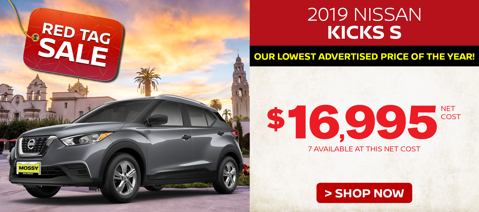 Mossy Nissan - Nissan Kicks $16,995 Purchase HP