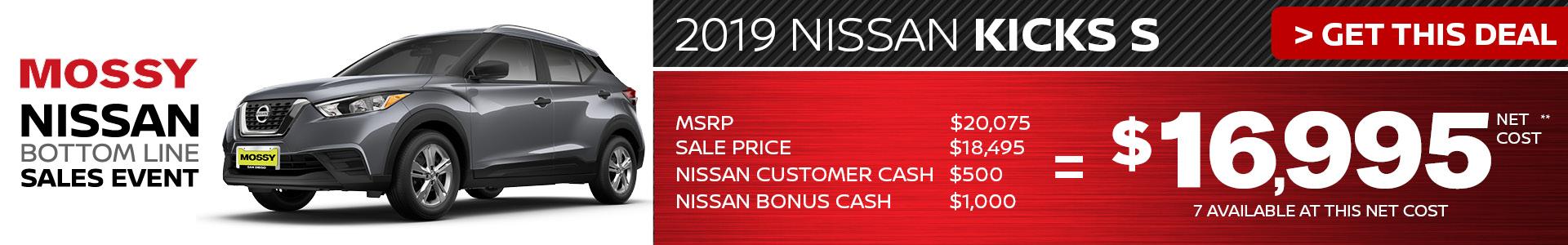 Mossy Nissan - Nissan Kicks $16,995 Purchase