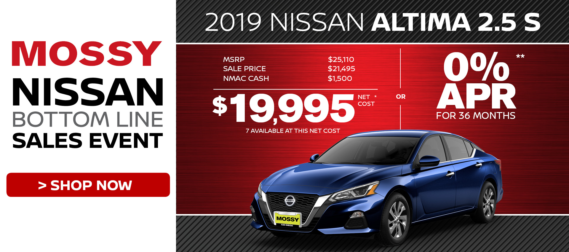 Mossy Nissan - Nissan Altima $19,995 Purchase HP