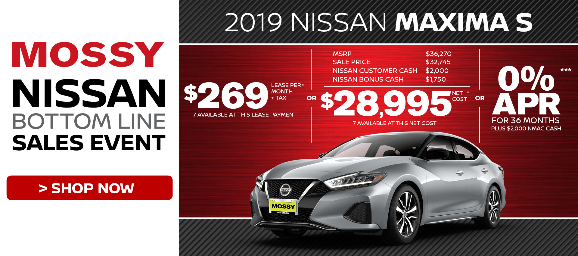 Mossy Nissan - Nissan Maxima $28,995 Purchase HP