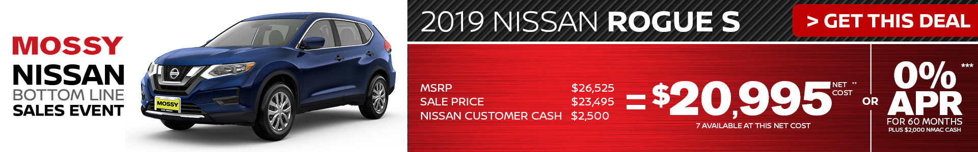 Mossy Nissan - Nissan Rogue S $20,995 Purchase