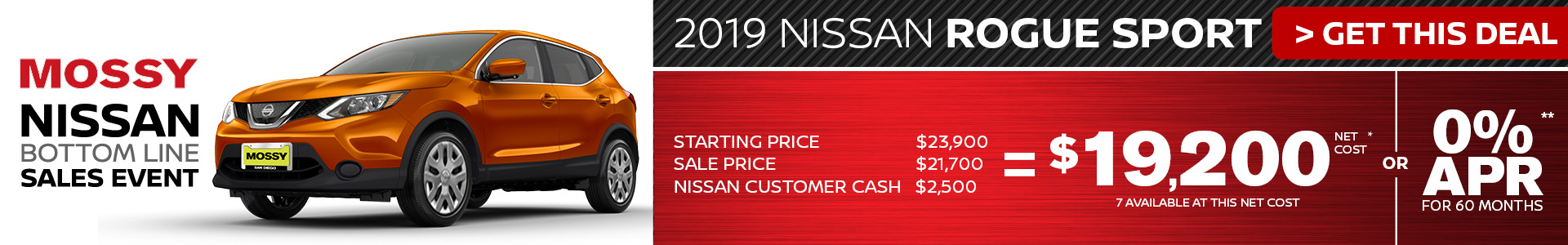 Mossy Nissan - Nissan Rogue Sport $19,200 Purchase