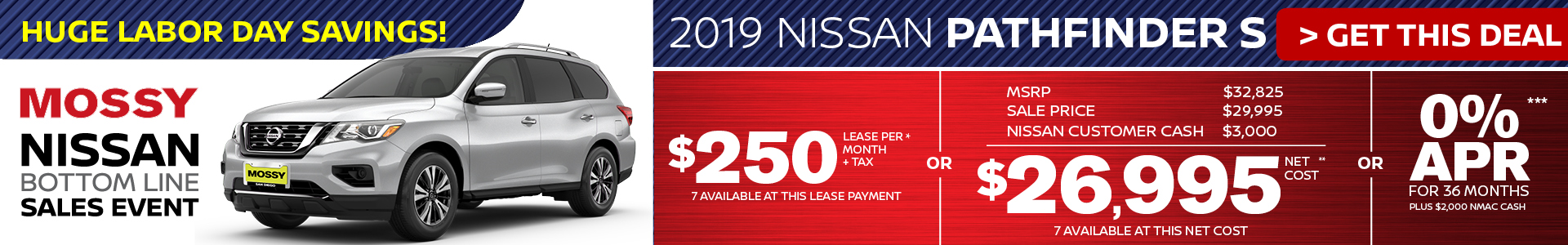 Mossy Nissan - Nissan Pathfinder $26,995 Purchase