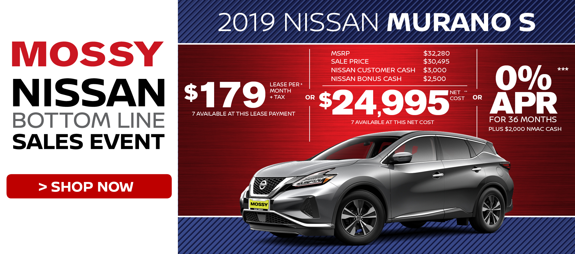 Mossy Nissan - Nissan Murano $24,995 Purchase HP
