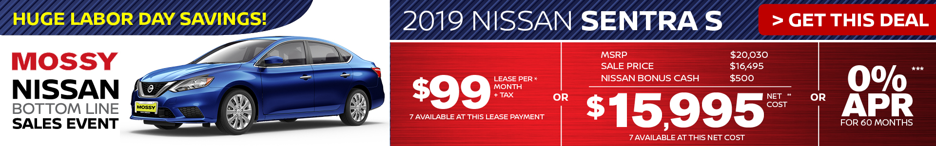 Mossy Nissan - Nissan Sentra $15,995 Purchase