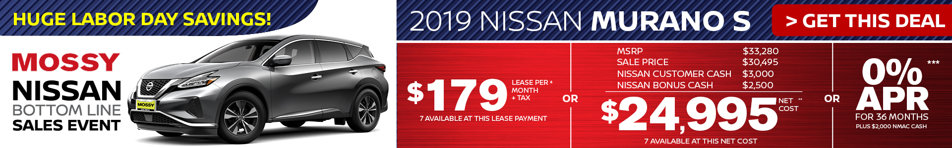 Mossy Nissan - Nissan Murano $24,995 Purchase