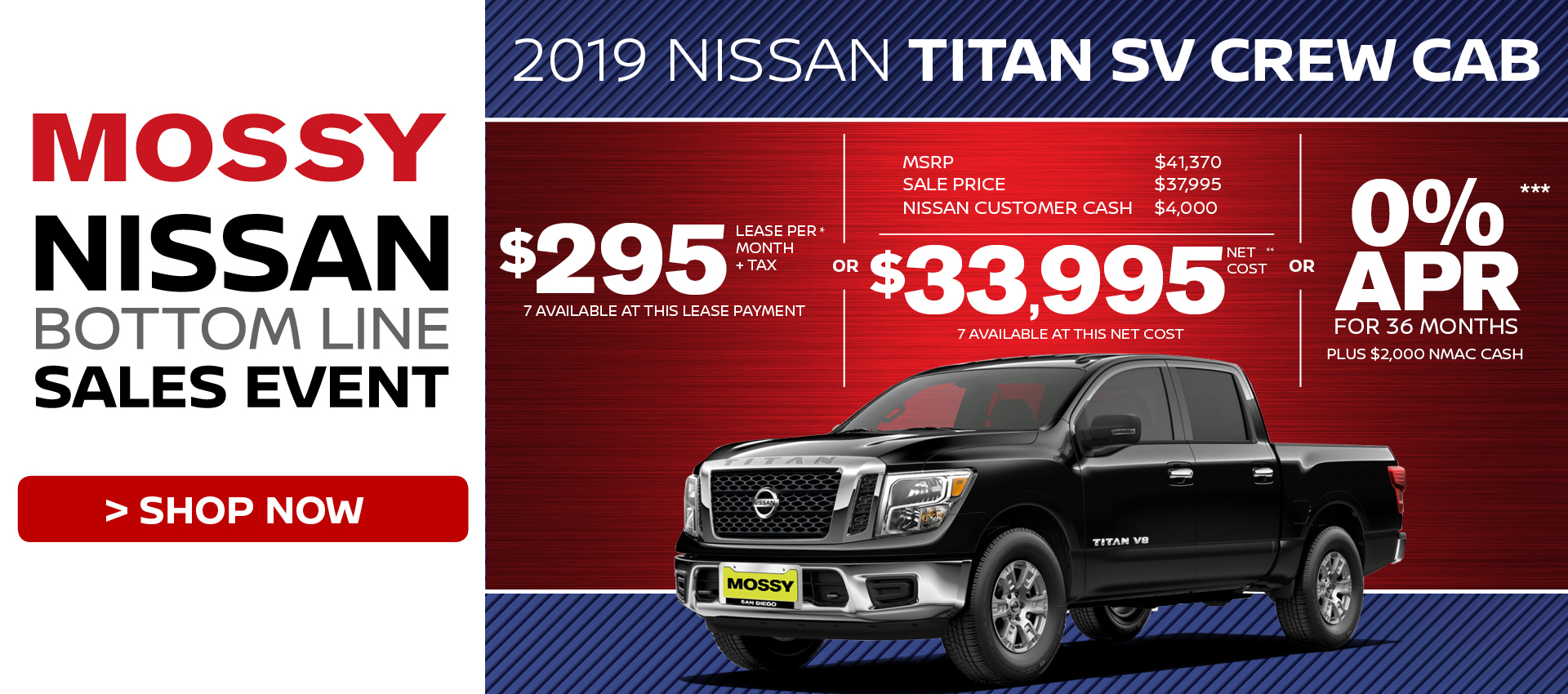 Mossy Nissan - Nissan Titan $33,995 Purchase HP