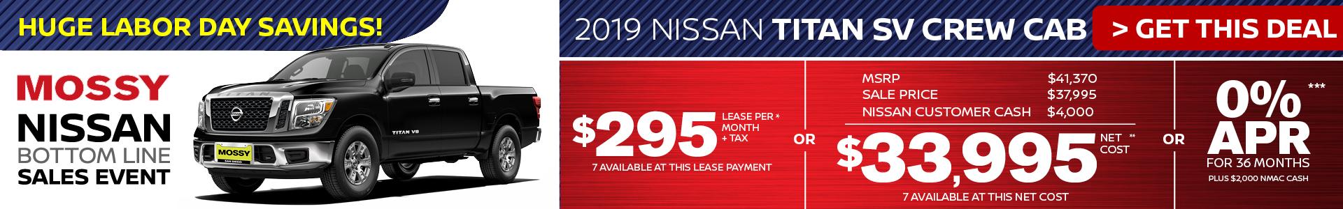 Mossy Nissan - Nissan Titan $33,995 Purchase