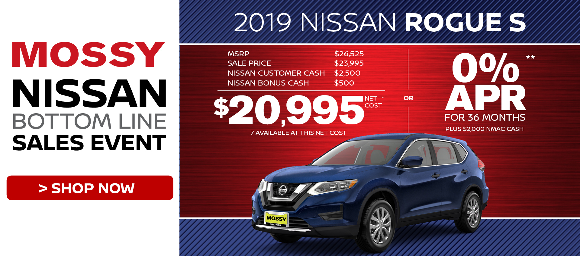 Mossy Nissan - Nissan Rogue S $20,995 Purchase HP