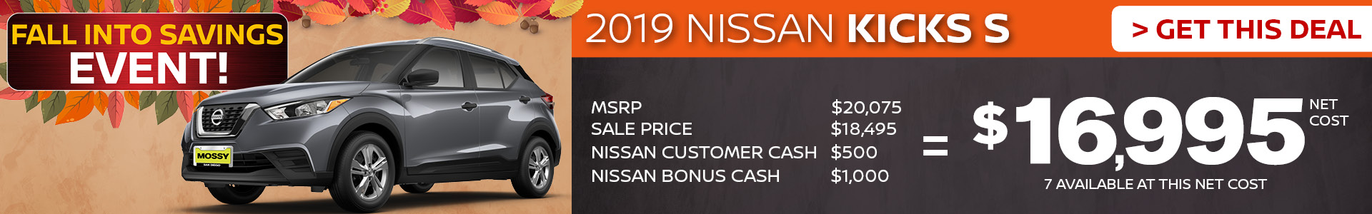 Mossy Nissan - Nissan Kicks $16,995 Purchase