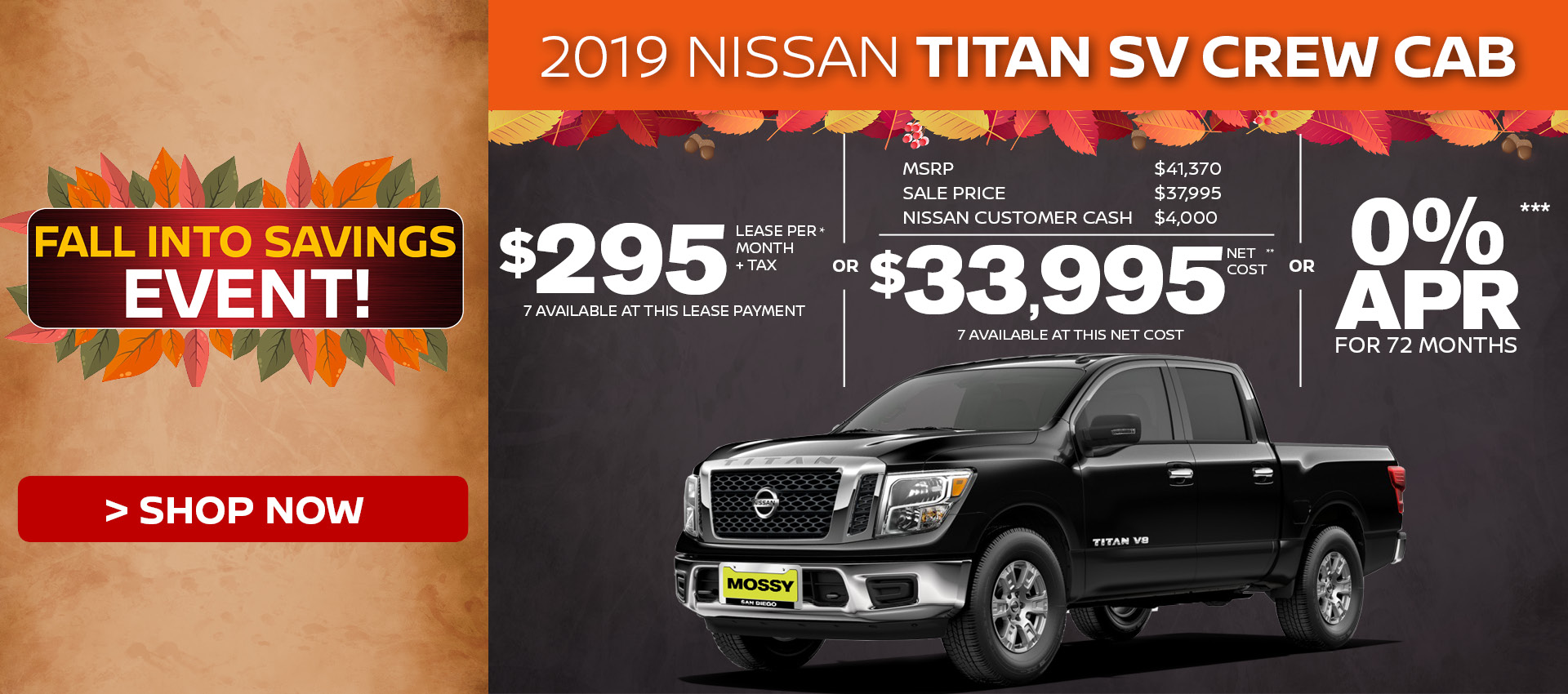 Mossy Nissan - Nissan Titan $33,995 Purchase HP