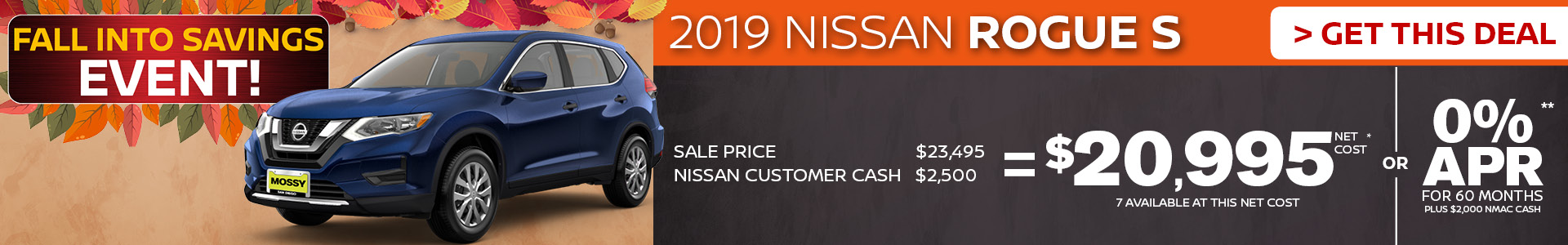 Mossy Nissan - Nissan Rogue $20,995 Purchase