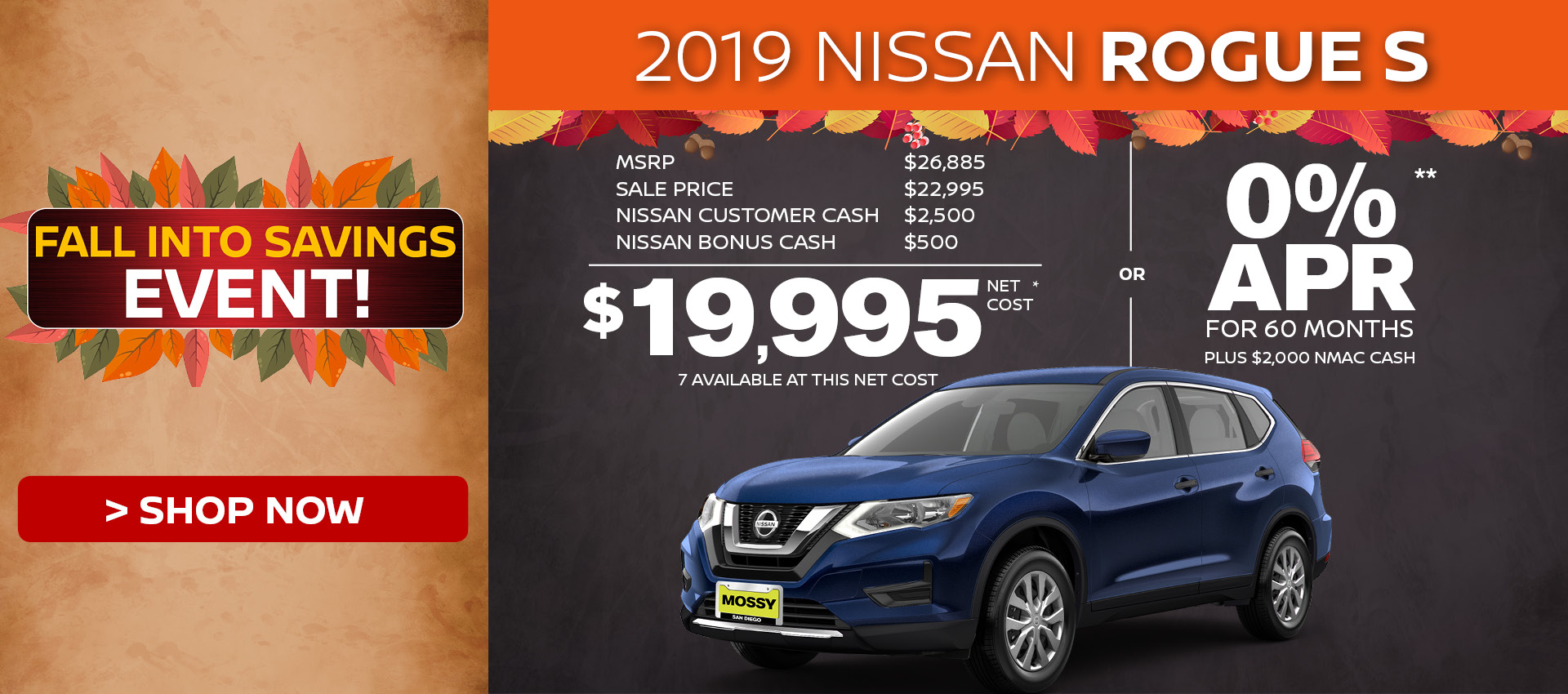 Mossy Nissan - Nissan Rogue S $19,995 Purchase HP