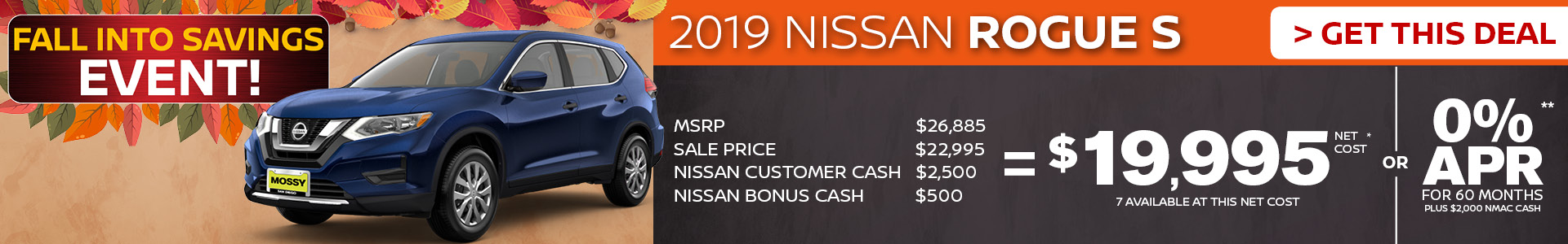 Mossy Nissan - Nissan Rogue S $19,995 Purchase