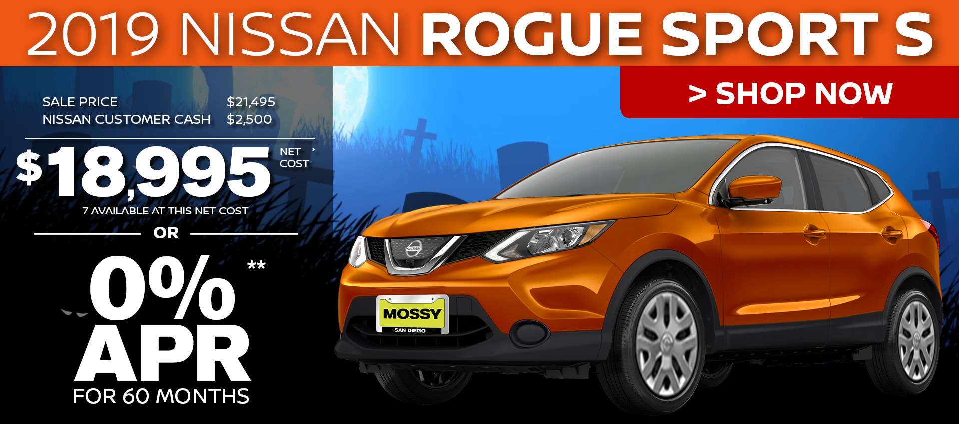 Mossy Nissan - Rogue Sport $18,995 Purchase HP