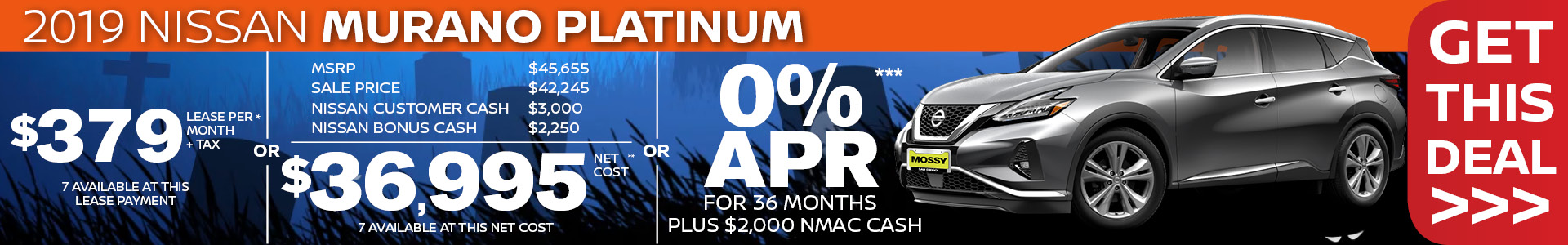 Mossy Nissan - Nissan Murano Platinum Purchase SRP