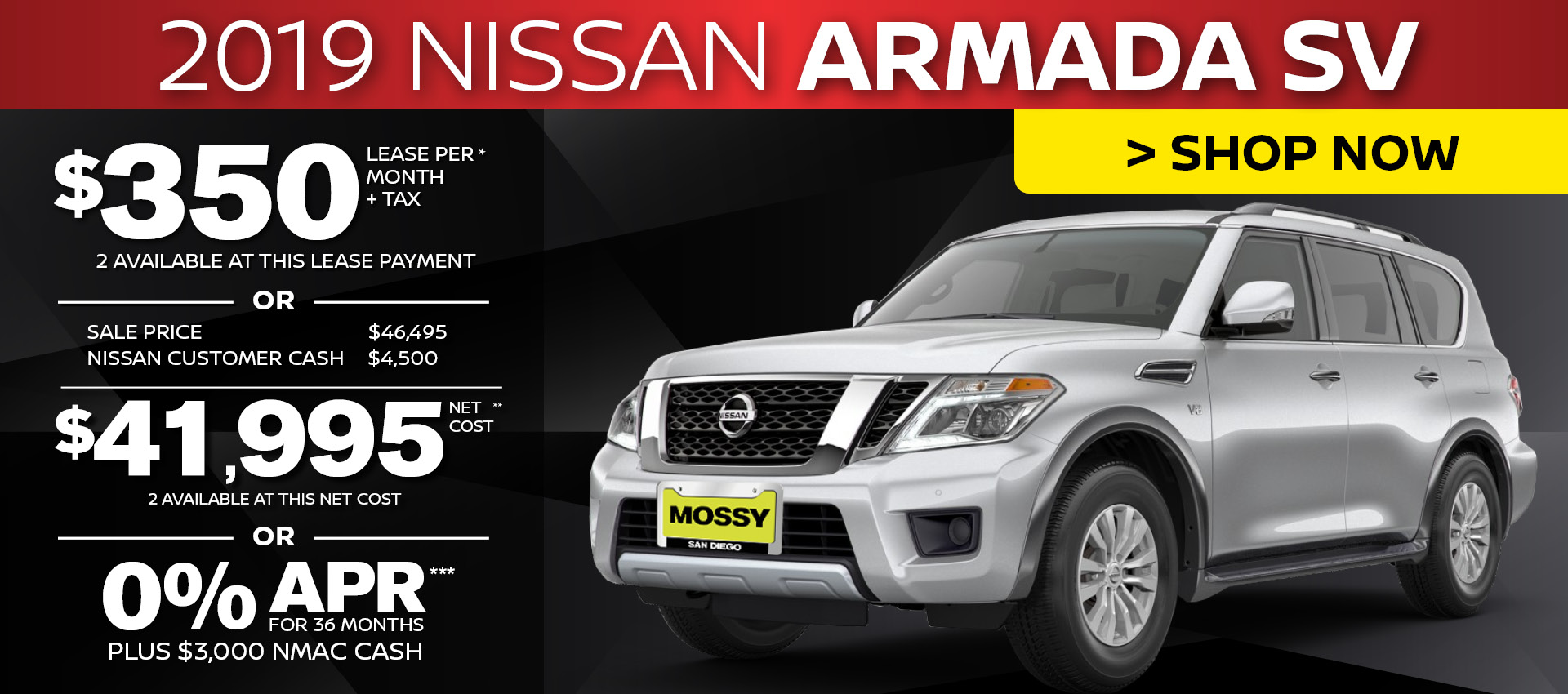 Mossy Nissan - Nissan Armada HP