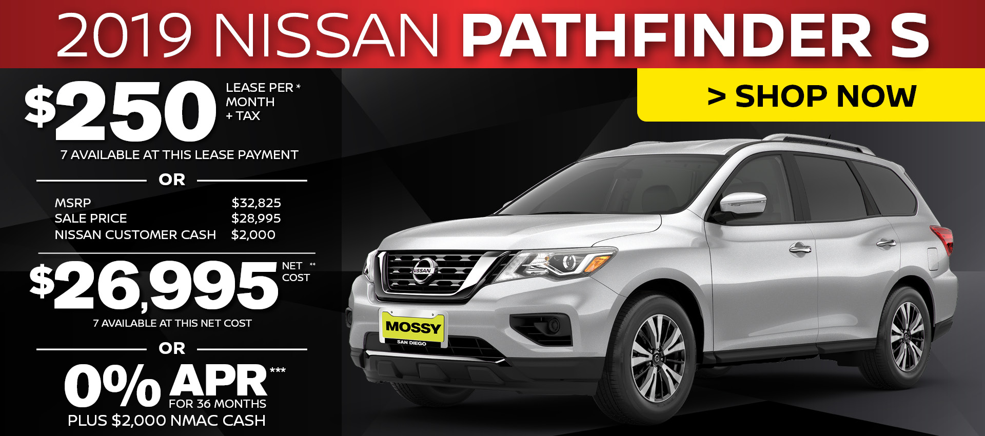 Mossy Nissan - Nissan Pathfinder $26,995 Purchase HP