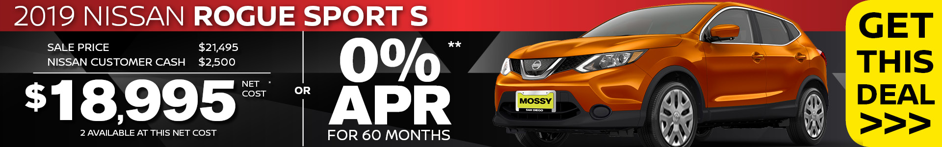 Mossy Nissan - Nissan Rogue Sport $18,995 Purchase SRP