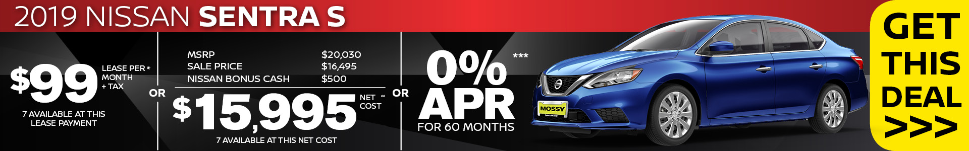 Mossy Nissan - Nissan Sentra $15,995 Purchase SRP