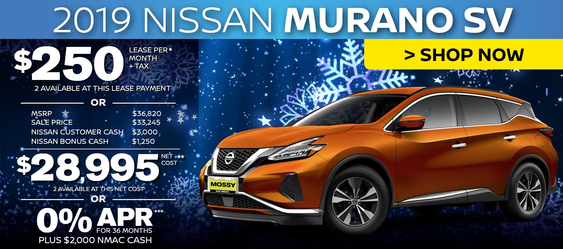Mossy Nissan - Nissan Murano SV Purchase HP
