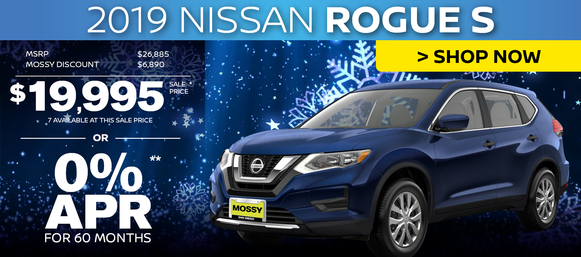 Mossy Nissan - Nissan Rogue $20,995 Purchase HP