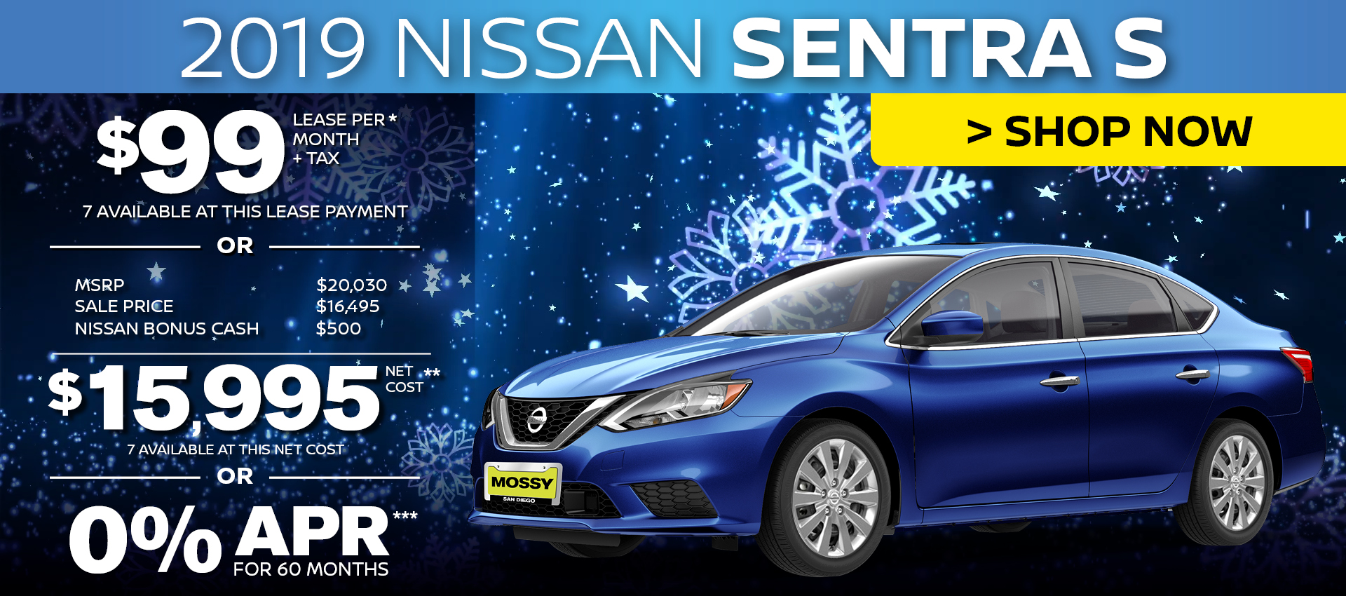 Mossy Nissan - Sentra $15,995 Purchase HP