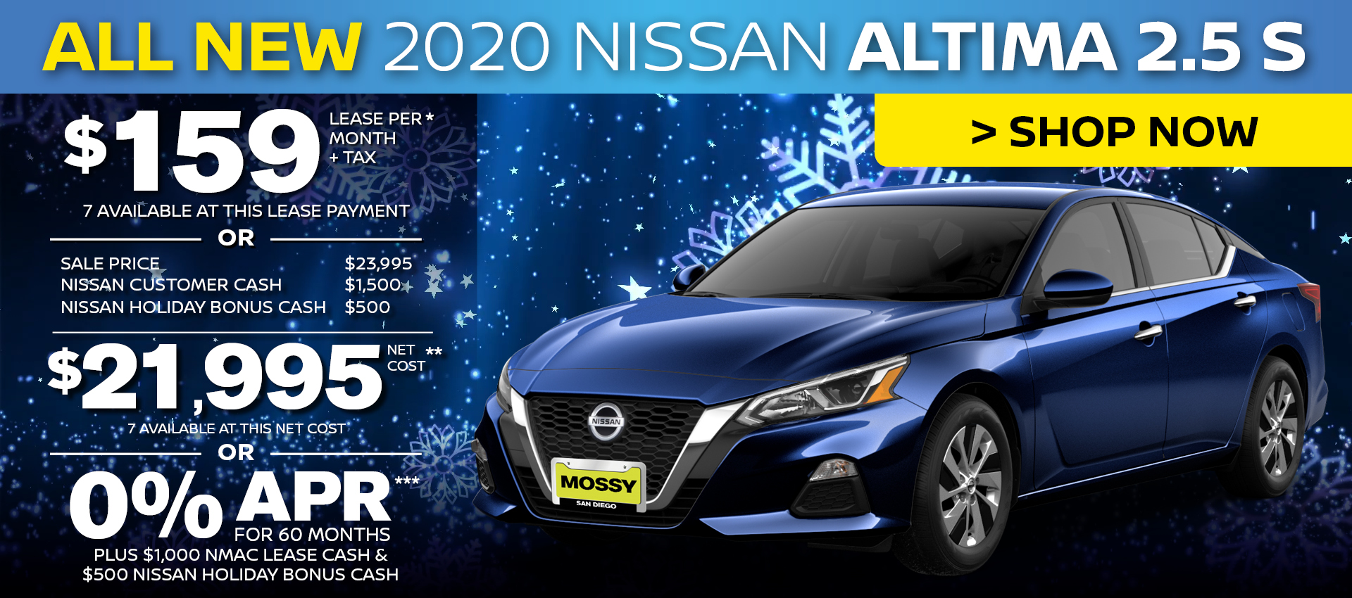 Mossy Nissan - Nissan Altima $159 Lease HP