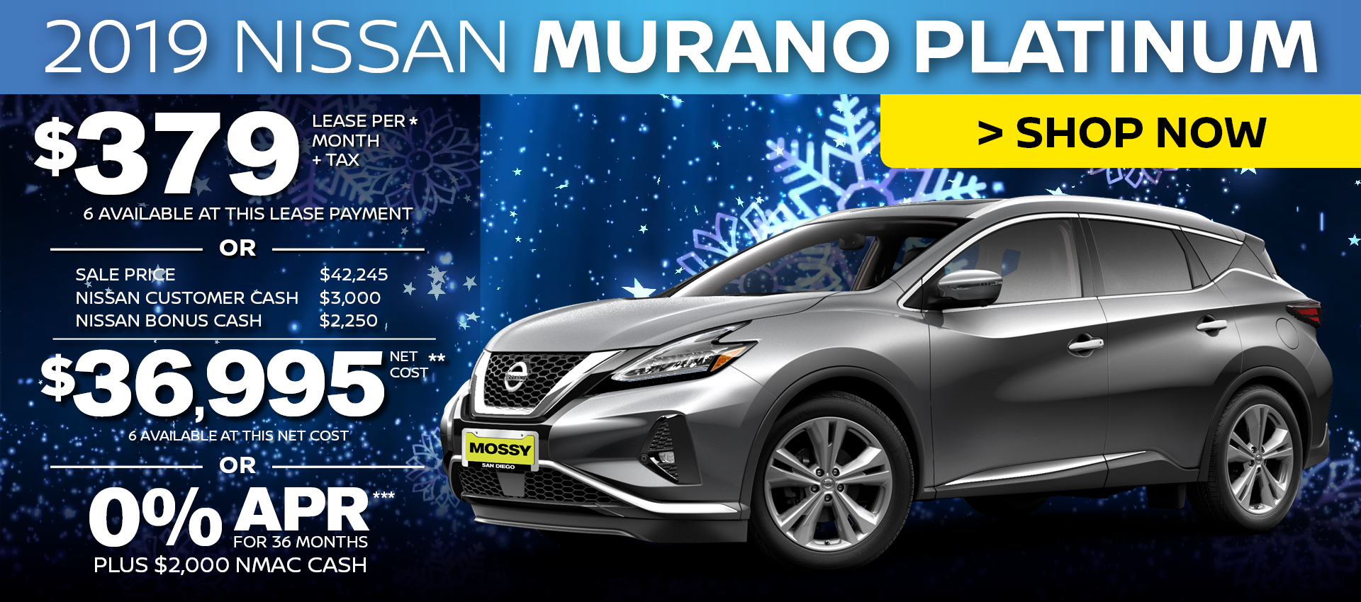Mossy Nissan - Nissan Murano Platinum Purchase HP