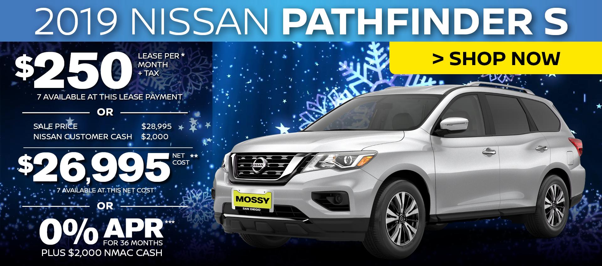 Mossy Nissan - Nissan Pathfinder $26,995 Purchase HP