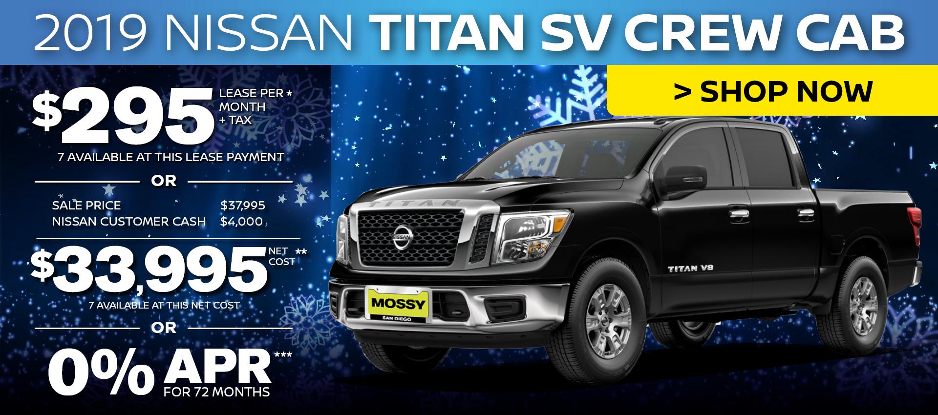 Mossy Nissan - Nissan Titan Purchase HP