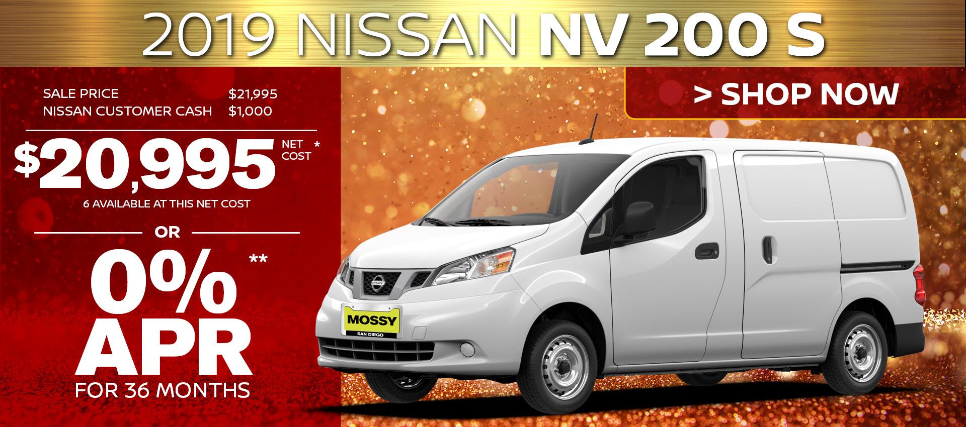 Mossy Nissan - NV200 HP
