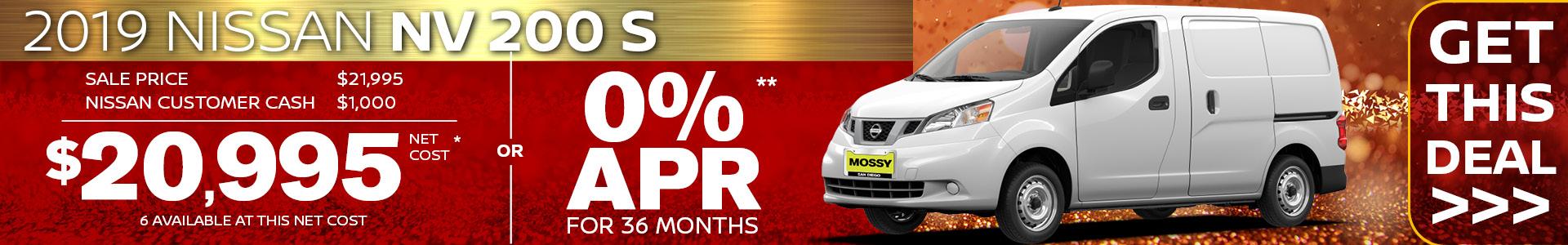 Mossy Nissan - NV200 SRP
