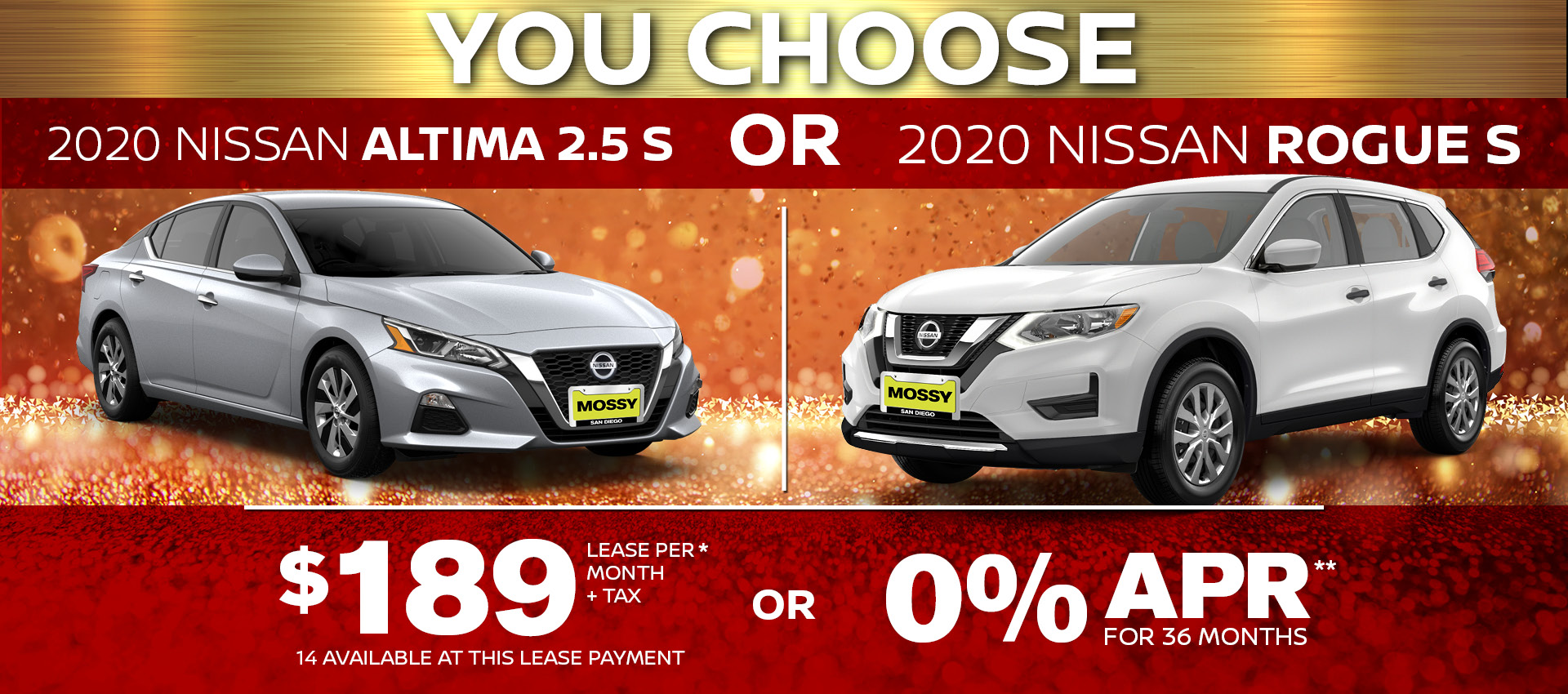 Mossy Nissan - Altima Rogue Combo HP