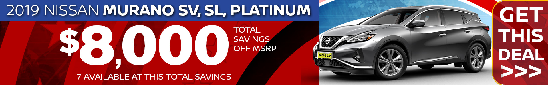 Mossy Nissan - Murano SRP