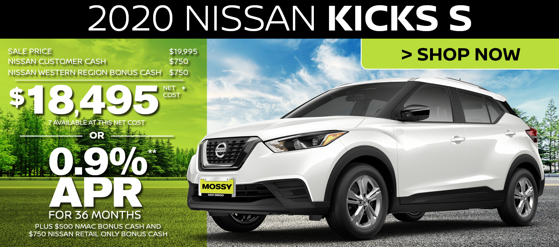 Mossy Nissan - Kicks HP